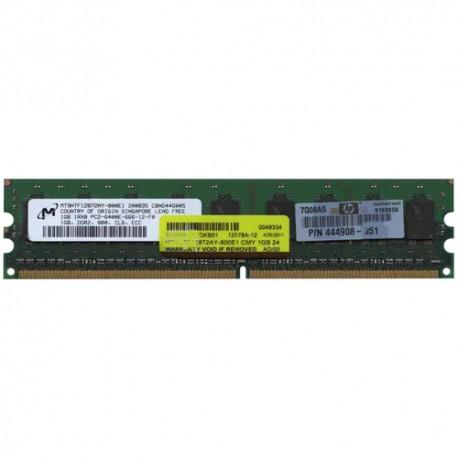 Memória 1GB 240p PC2-6400 CL6 9c 128x8 ECC DDR2-800 DIMM RFB w/ HP label