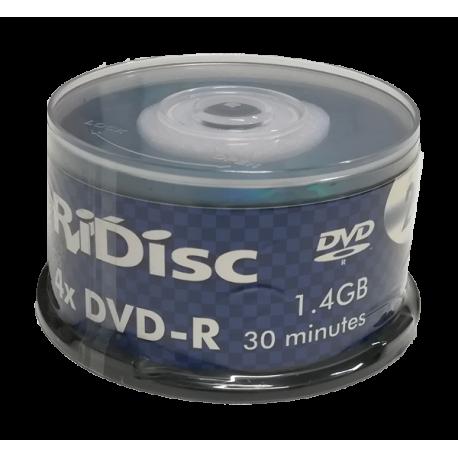 RIDISC MINI 8CM DVD-R - 1.4GB / 30 MINUTES - 25 BLANK DVDS