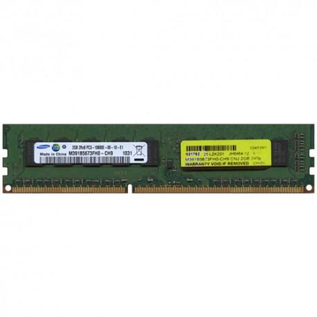 Memória SAMSUNG MEM DIMM 2GB PC-10600E DUAL RANKED DDR3, 1333MHZ UNBUFFERED ECC