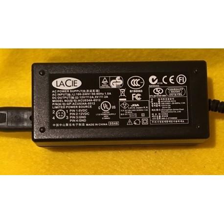 Adaptador de Corrente LaCie Original ACU034A-0512